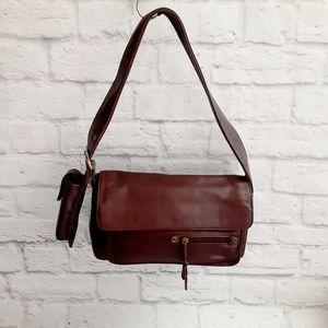 Aurielle brown leather shoulders bag